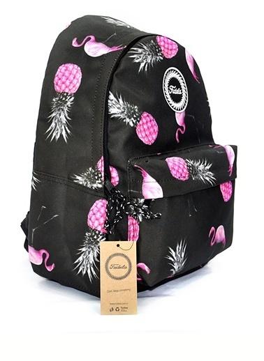 Fudela Fudela Flamingo Ananas Sırt Çantası Siyah